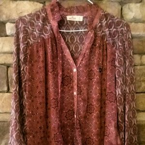 Hollister sheer tunic size small